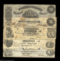 Confederate Notes:Group Lots, Early CSA Type Quartet.
