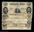 Confederate Notes:Group Lots, Various 1861 Confederates.