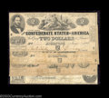 Confederate Notes:Group Lots, 1862 Small Denomination Types.