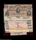 Confederate Notes:Group Lots, 1864 CSA Type Set. This nice type set includes all notes ... (8notes)