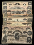 Confederate Notes:Group Lots, Late War Issues.