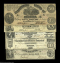 Confederate Notes:Group Lots, 1861 Confederate Types.