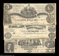 Confederate Notes:Group Lots, Three Early Confederate Types.