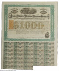 Confederate Notes:Group Lots, Selma, Marion & Memphis Railroad Co. 1869 Bond. First ...