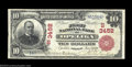 National Bank Notes:Alabama, Opelika, AL - $10 1902 Red Seal Fr. 614 The First NB ...