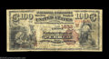 National Bank Notes:Colorado, Pueblo, CO - $100 1882 Brown Back Fr. 524 The First NB ...