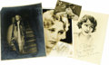Movie/TV Memorabilia:Autographs and Signed Items, Early Starlets Signed Photo Group. Anna May Wong, Brigitte Helm, Dolores Costello, and Norma Talmadge grace this group of fo...