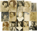 "Movie/TV Memorabilia:Autographs and Signed Items, Vintage Signed Photos of Early Hollywood Starlets. Set of 15autographed vintage b&w portraits ranging in size from 7"" x 9""..."