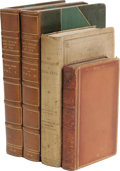 Books:Non-American Editions, Three Attractive Titles by Shelley's Personal Friend, Leigh Hunt. This lot offers three titles by the man Charles Dickens on... (Total: 4 )