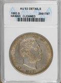 Coins of Hawaii: , 1883 $1 Hawaii Dollar--Cleaned--ANACS. AU53 Details. NGC Census:(10/123). PCGS Population (21/138). Mintage: 500,000. (#1...