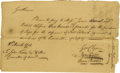 "Autographs:Statesmen, Declaration Signer George Clymer Autograph Document Signed ""GeoClymer"". One page, 8.25"" x 5"", Philadelphia, Pennsylvani..."