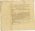 """Miscellaneous:Ephemera, [Revolutionary War] Unaccomplished American Privateer's Commission.Partly printed document, one page, folio (12.25"""" x 10.25..."""