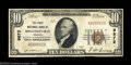 National Bank Notes:Georgia, Milledgeville, GA - $10 1929 Ty. 1 The First NB Ch. # ...