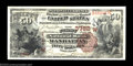 Manhattan, KS - $50 1882 Brown Back Fr. 515 The First NB Ch. # (W)3782 A gorgeous $50 Brown Back centered between four...