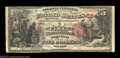 National Bank Notes:New York, Angelica, NY - $5 1875 Fr. 401 The First NB Ch. # 564