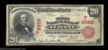 National Bank Notes:Oregon, Albany, OR - $20 1902 Red Seal Fr. 639 The First NB Ch....