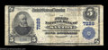 National Bank Notes:Pennsylvania, Saxton, PA - $5 1902 Plain Back Fr. 598 The First NB ...