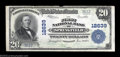 National Bank Notes:Tennessee, Springfield, TN - $20 1902 Plain Back Fr. 661 The First ...