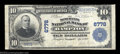National Bank Notes:Virginia, Hampton, VA - $10 1902 Plain Back Fr. 624 The Merchants ...