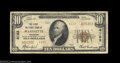 National Bank Notes:Wisconsin, Marinette, WI - $10 1929 Ty. 2 The First NB Ch. # 4123