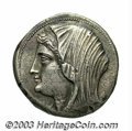 Ancients:Greek, Ancients: Sicily, Syracuse. Philistis, wife of Hieron II. 274-216B.C. AR 16 litrae (27 mm, 13.71 g). Issued posthumously, ca.216-215...