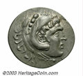 Ancients:Greek, Ancients: Macedonian Kingdom. Alexander III. 336-323 B.C. ARtetradrachm (33 mm, 16.39 g). Perga, year 14 (208/7 B.C.). Head ofHerakl...