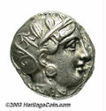 Ancients:Greek, Ancients: Attica, Athens. After 393 B.C. AR tetradrachm (22 mm,17.24 g). Helmeted head of Athena right / Owl standing right; olivesp...