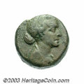 Ancients:Roman, Ancients: Ptolemaic Kingdom. Cleopatra VII Thea. 51-30 B.C. AE 40drachmae (22 mm, 9.75 g). Diademed and draped bust right / Eaglesta...