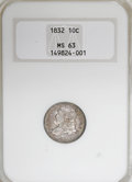 Bust Dimes, 1832 10C MS63 NGC....
