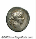 Ancients:Roman, Ancients: C. Fabius C. f. Hadrianus. 102 B.C. AR denarius (19 mm,3.90 g). Veiled and turreted bust of Cybele right / Victory driving...