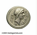 Ancients:Roman, Ancients: Q. Sicinius and C. Coponius. 49 B.C. AR denarius (17 mm,4.06 g). Mobile military mint with Pompey in the East. Diademedhea...