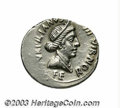 Ancients:Roman, Ancients: Augustus. 27 B.C.-A.D. 14. AR denarius (21 mm, 4.06 g).Rome, ca. 19 B.C. P. Petronius Turpilianus, moneyer. Diademed anddr...