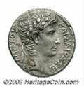 Ancients:Roman, Ancients: Syria, Seleucis and Pieria. Antioch ad Orontem. Augustus.27 B.C.-A.D. 14. AR tetradrachm (25 mm, 15.03 g). Laureate headri...