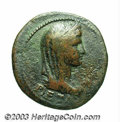 Ancients:Roman, Ancients: Livilla. AE dupondius (28 mm, 12.16 g). Restitution issueunder Titus, A.D. 79-81. Draped, diademed and veiled bust ofLivia... (Total: 2 coins Item)