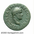 Ancients:Roman, Ancients: Galba. A.D. 68-69. AE sestertius (34 mm, 25.17 g). Rome,A.D. 68. Laureate head right / Roma seated left on cuirass,holding...