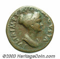 Ancients:Roman, Ancients: Julia Titi, daughter of Titus. AE dupondius (26 mm, 12.06g). Rome, under Titus, A.D. 79-81. Draped bust right / Vestaseate...