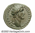 Ancients:Roman, Ancients: Antoninus Pius. A.D. 138-161. AE dupondius (27 mm, 13.23g). Rome, A.D. 140-144. Radiate head right / Salus standing left,f...