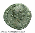 Ancients:Roman, Ancients: Commodus. A.D. 177-192. AE sestertius (33 mm, 30.00 g).Rome. A.D. 181. Laureate bust right, slight drapery on far shoulder...