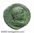 Ancients:Roman, Ancients: Caracalla. A.D. 198-217. AE sestertius (32 mm, 24.98 g).Rome, A.D. 213. Laureate, draped and cuirassed bust right / Viewof...