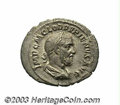 Ancients:Roman, Ancients: Pupienus. A.D. 238. AR denarius (21 mm, 2.63 g). Rome.Laureate, draped and cuirassed bust right / Concordia seated left,ho...