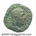 Ancients:Roman, Ancients: Philip I. A.D. 244-249. AE sestertius (28 mm, 17.36 g).Rome. Laureate, draped and cuirassed bust right / Elephant, guidedb...