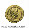 Ancients:Roman, Ancients: Uranius Antoninus. Ca. A.D. 253-254. AV aureus (20 mm,5.67 g). Emisa. Laureate, draped and cuirassed bust right / Fortunas...