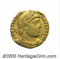 Ancients:Roman, Ancients: Valentinian I. A.D. 364-375. AV solidus (18 mm, 3.16 g).Nicomedia, A.D. 364. Diademed, draped and cuirassed bust right /Va...
