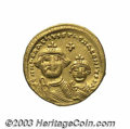 Ancients:Byzantine, Ancients: Heraclius. A.D. 610-641. AV solidus (19 mm, 4.19 g).Constantinople, ca. 616-ca. 625. Crowned facing busts of Heracliuson l...