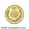 Afghanistan: , Afghanistan: Habibullah gold 2 Tillas 1298SH (1919), KM879, UNC, fully brilliant and very nice for this issue....
