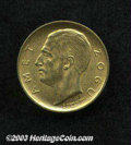 Albania: , Albania: King Zog gold 10 Franc 1927R, KM9, choice lustrous UNC. . From the Morris Geiger Collection....