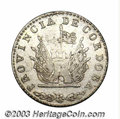 Argentina: , Argentina: Cordoba. 4 Reales 1851, KM24.3, weight 9 D., no dotafter the 9 and unlisted as such. XF-AU, crudely produced buthighly lus...
