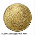 Argentina: , Argentina: La Rioja. Gold 8 Escudos 1845-RB, KM19, VF, lightlytoned and attractive. Confederation coat of arms/Shield withmountains o...