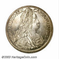 Austria: , Austria: Charles VI Taler 1728 Hall, KM693, Dav-1054. AU-UNC,lightly dipped but fully lustrous and slightly prooflike. A choicecoin...
