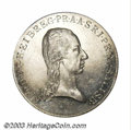Austria: , Austria: Salzburg. Ferdinand Taler 1806, KM499, Dav-44. AU-UNC,lightly dipped, very tiny surface marks in the obverse fields. There...